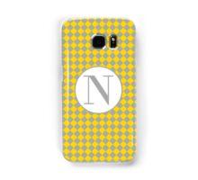 N Checkard Samsung Galaxy Case/Skin