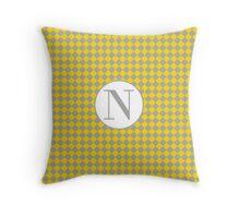 N Checkard Throw Pillow