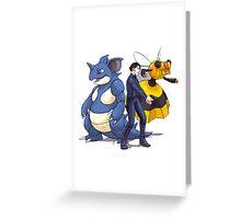 Nidoking Pokemon Detective Greeting Card
