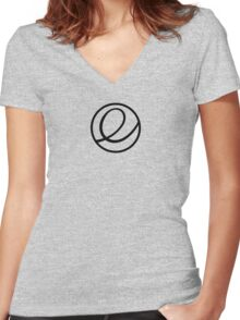 Elementary OS logo Women's Fitted V-Neck T-Shirt