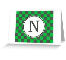 N Checkard II Greeting Card