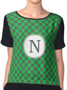 N Checkard II Chiffon Top