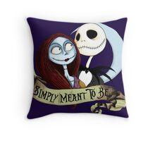 Jake and Sally Nightmare Before Christmas Love Throw Pillow