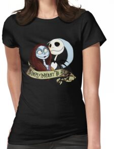 Jake and Sally Nightmare Before Christmas Love Womens Fitted T-Shirt