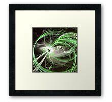 Green Abstract Fractal  Framed Print