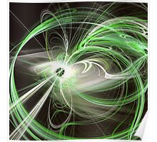 Green Abstract Fractal  Poster