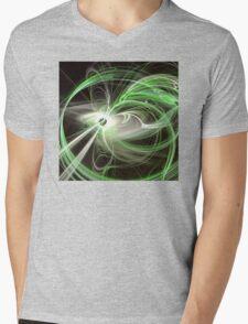 Green Abstract Fractal  Mens V-Neck T-Shirt