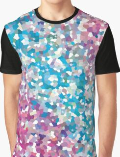 Blue and Purple Sparkly Winter Snow Abstract Art Graphic T-Shirt