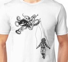 Octopus Kraken + Deep Sea Diver  Unisex T-Shirt