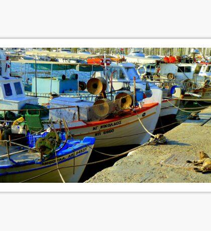 Greek fishing boats Sticker