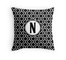 N Bootle Throw Pillow