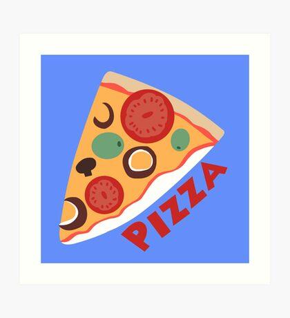 Dewey's Pizza Shirt Art Print