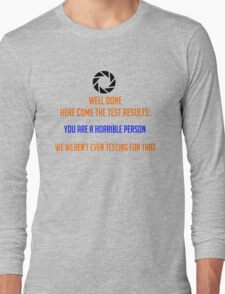 Portal - Not Even Testing Long Sleeve T-Shirt