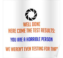 Portal - Not Even Testing Poster