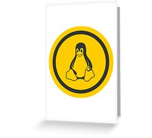 Tux Logo Greeting Card