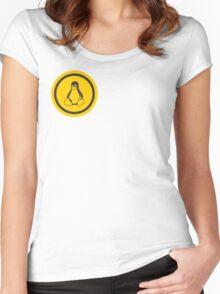 Tux Logo Women's Fitted Scoop T-Shirt