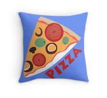 Dewey's Pizza Shirt Throw Pillow