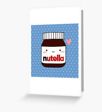 Cute Nutella jar Greeting Card