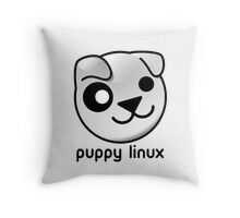 puppy linux Throw Pillow