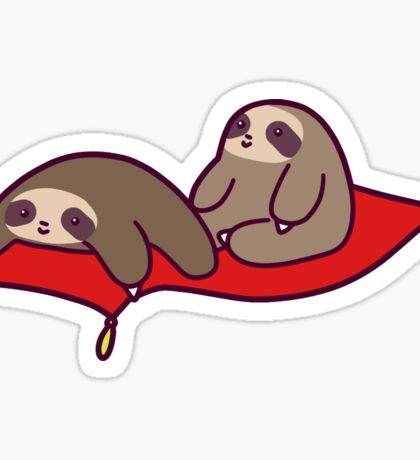 Magic Carpet Sloths Sticker