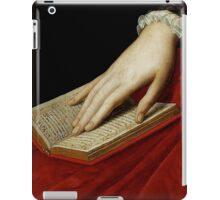 Renaissance old master cropped image, hand on book iPad Case/Skin