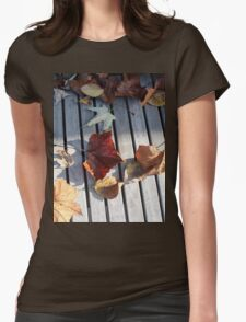 Autumn Leaves Three Womens Fitted T-Shirt