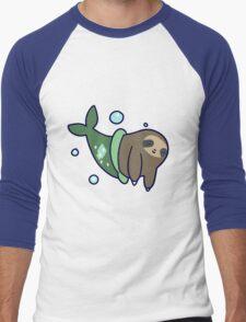 Mermaid Sloth Men's Baseball ¾ T-Shirt