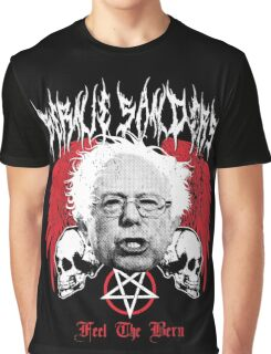 FEEL THE BERN Heavy Metal Bernie Sanders Shirt Graphic T-Shirt