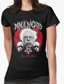 FEEL THE BERN Heavy Metal Bernie Sanders Shirt Womens Fitted T-Shirt