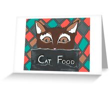 Brownie The Cat Greeting Card