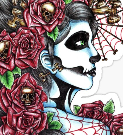 Day of the Dead Red Sticker