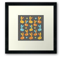 Easter Modern Twist Pattern Framed Print