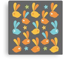 Easter Modern Twist Pattern Canvas Print