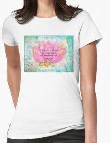 Saint Augustine BOOK Travel Quote Womens Fitted T-Shirt