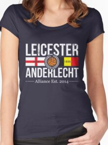 Leicester City and Anderlecht Alliance Women's Fitted Scoop T-Shirt