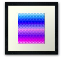Ombre Rainbow Scales Pattern Framed Print