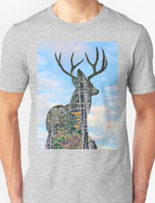 Deer and pine merge 2 Unisex T-Shirt