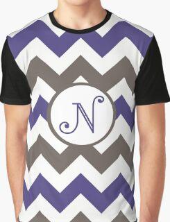 Purple Chevron N Graphic T-Shirt