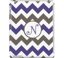 Purple Chevron N iPad Case/Skin