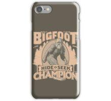 Bigfoot - Hide & Seek Champion iPhone Case/Skin