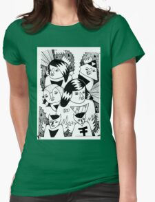 Nightmare Characters Womens Fitted T-Shirt