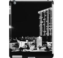 Full Moon Over St Petersburg in B&W 002 iPad Case/Skin