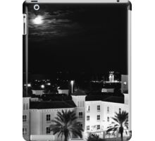 Full Moon Over St Petersburg in B&W iPad Case/Skin