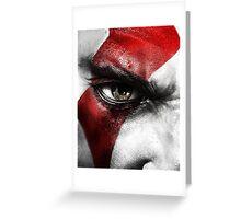 God of War Kratos Greeting Card