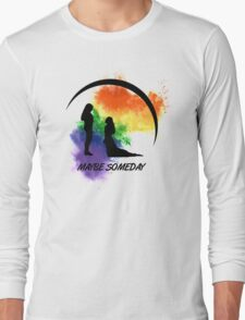 Clexa - Maybe Someday In Color Long Sleeve T-Shirt