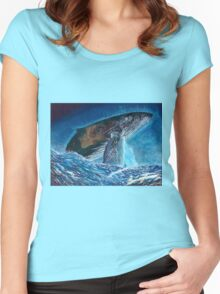 Intergalactic Humpback  Women's Fitted Scoop T-Shirt
