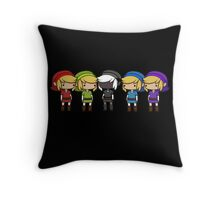Legend of Zelda - Kawaii Chibi Links Throw Pillow