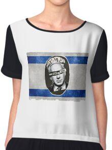 Bibi God Save the King, Israel Chiffon Top