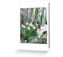 Narcissus in the Forest Greeting Card