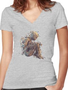 Shattering Inside (Full) Women's Fitted V-Neck T-Shirt